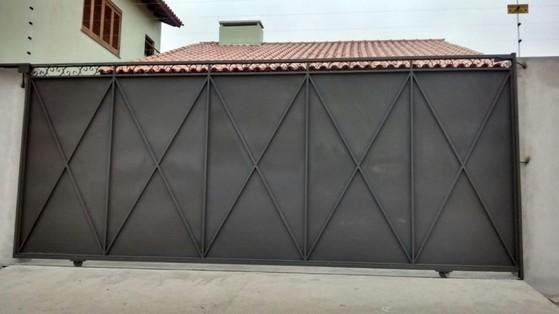 Famosos Portão de Aço para Comércio - Sempre Serralheria AF02
